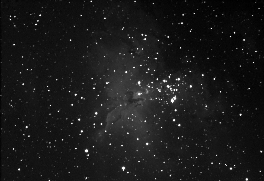 Zdjęcie mgławicy Orzeł (M16) wykonane przez Katarzynę Średniawę i załogę obserwatorium.
